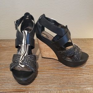 Carlos Santana Wedge Sandals Size 6.5